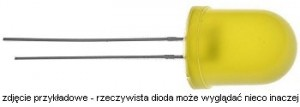 OE1Y410D Dioda LED-10mm żółta    585nm  1,0cd dyfuzyjna