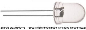 OE1R410W Dioda LED-10mm czerwona 660nm  1,0cd water-clear